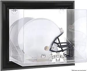 Mississippi State Bulldogs Brown Framed Wall Mountable Helmet Display Case by Sports Memorabilia