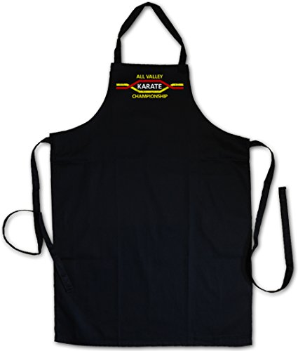 ALL VALLEY KARATE CHAMPIONSHIP GREMBIULE BBQ GREMBIULI DA APRON CUCINA GRIGLIA - Per movie vincere domani Kid Tournament Logo Sign Martial Arts Kung Fu Karate Akido Takewondo Tai Chi Kickboxing Champion Fighter