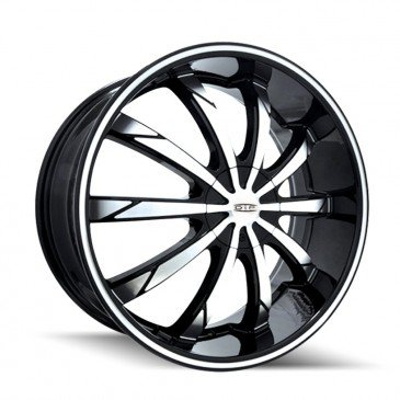 Dip Slack 18 Black Machined Wheel / Rim 5x110 & 5x115 with a 40mm Offset and a 72.62 Hub Bore. Partnumber D66-8711M (Rims For Dodge Charger 2008 compare prices)