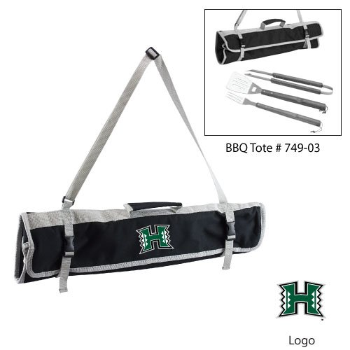 Ncaa Hawaii Rainbows 3-Piece BBQ Tool Set With Tote