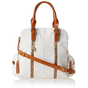 BIG BUDDHA JAlycee Satchel Top Handle Bag,White,One Size