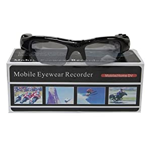 Boriyuan Spy Pinhole Hidden Video Recorder DVR Mobile Eyewear Glasses Camera w/ Micro SD Slot Expandable to 16gb