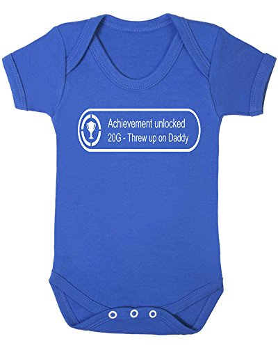 xbox-360-achievement-unlocked-threw-up-on-daddy-baby-vest-12-18-months-royal-blue-vest-white-vinyl