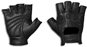 StrongSuit 20600-XL On Tour Fingerless Motorcycle Gloves, X-Large