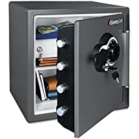SentrySafe SFW123DEB 1.2 Ft. Combination Water/Fire Resistant Safe
