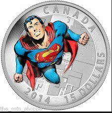 Fine Silver Coin - Iconic SupermanTM Comic Book Covers: Action Comics #419 From 1972 - Mintage: 10,000 (2014) by ROYAL CANADIAN MINT