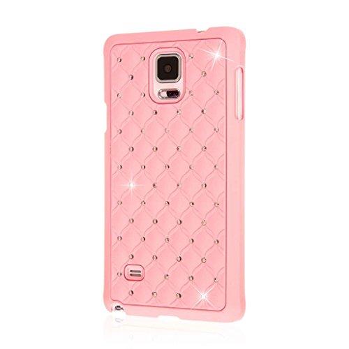 Samsung Galaxy Note 4 Custodia, EMPIRE GLITZ Custodia Rigida Slim-Fit Bordo Rialzato Motivo Gioielli di Cristallo Originale Appariscente Galaxy Note 4 (1 Anno di Garanzia del Produttore) - Bling Accent