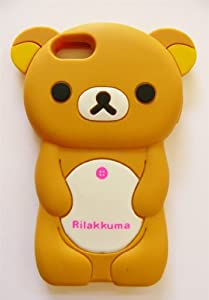 brown rilakkuma bear soft silicone case for iphone 5 cover