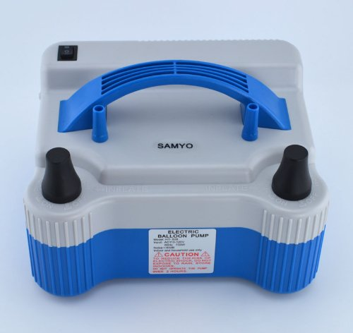 Samyo Super High Power Portable Air Blower Electric Balloon Inflator Pump With Two Nozzle 18000Pa 1000L/Min Air Volume