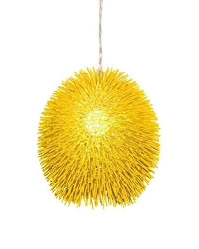 Varaluz Urchin 1-Light Pendant, Un-Mellow Yellow