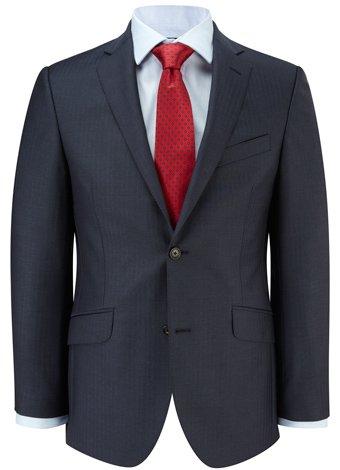 Austin Reed Contemporary Fit Blue Herringbone Jacket REGULAR MENS 42
