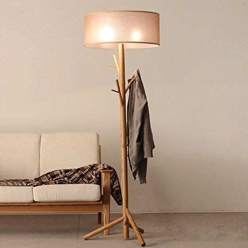 OAKLIGHTING Modern Tree Branch Wood Floor Lamps Lights Wooden Coat Rack Stand Lighting Height 68