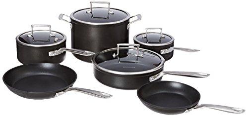 KitchenAid KCH2S10KM Professional Hard Anodized Nonstick 10-Piece Cookware Set - Black (Kitchenaid Cookware Set compare prices)
