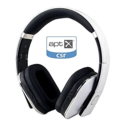 August Bluetooth Headphones EP650 - Wireless Over Ear Headphones with Multipoint/NFC/3.5mm Audio In/Headset Microphone