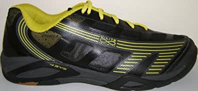 Hi-Tec Infinity Flare 4:SYS Indoor Court Shoe (9, Grey Charcoal Lime)