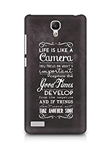 AMEZ life is like a camera Back Cover For Xiaomi Redmi Note 4G