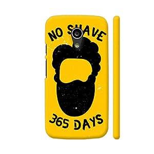 Colorpur No Shave 365 Days On Yellow Artwork On Motorola Moto G2 Cover (Designer Mobile Back Case) | Artist: Designer Chennai