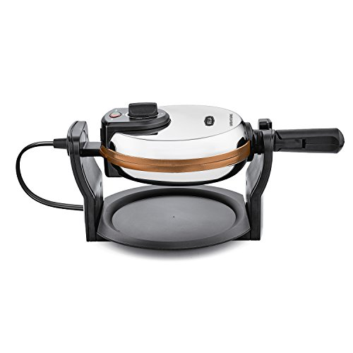 BELLA Copper Titanium Coated Rotating Belgian Waffle Maker, Stainless 1000 Watt 14608 (Waffle Maker Non Electric compare prices)