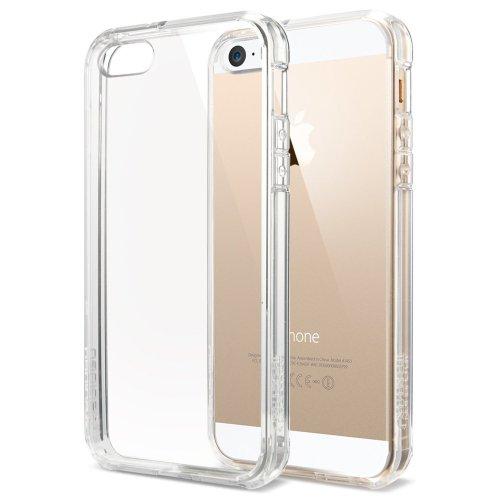国内正規品 クリア・バンパー Spigen iPhone 5s / 5 ケース ウルトラ・ハイブリッド (エアクッションテクノロジー) [クリスタル・クリア] SGP10640
