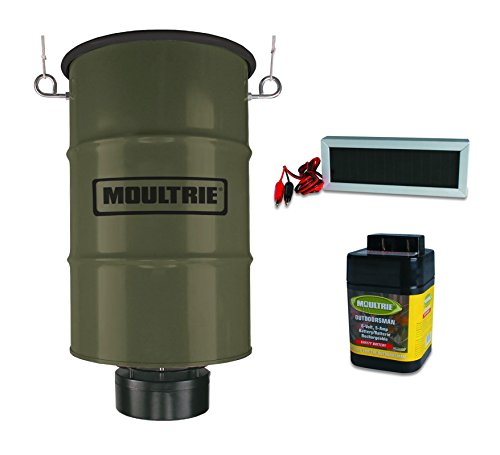 MOULTRIE 30 Gallon Pro Magnum Hanging Deer Feeder w/ 6V Battery & Solar Panel