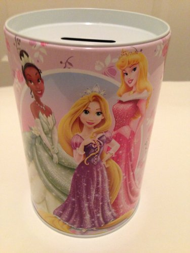Disney Princess Coin Bank. Tiana, Repunzel, and Aurora