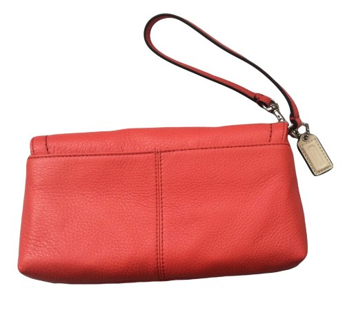 Coach   Coach Parker Leather Flap Wristlet Wallet Clutch Bag F49177 - Tearose
