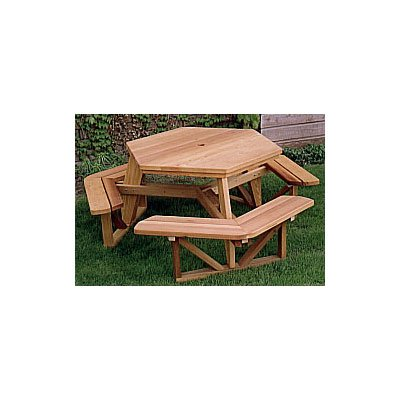 Woodworking Project Paper Plan to Build Hexagon Picnic Table