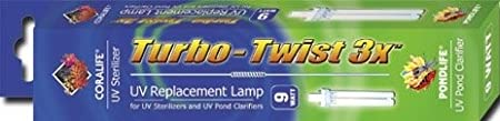 Coralife 05741 3X Turbo Twist UV Replacement Lamp, 9-Watt