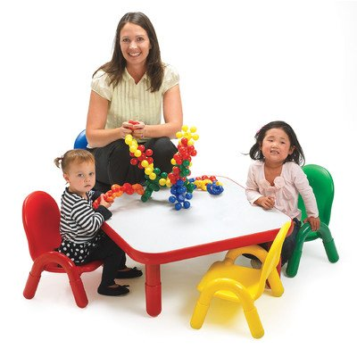 Angeles Toddler Table & Chair Set Candy Apple Red front-48995