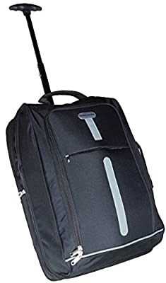 World Traveller Flight Approved Feather Light Weight Cabin Carry On Hand Luggage Roller Suitcase Bag Trolley Perect for Easyjet Ryanair Thomas Cook by World Traveller