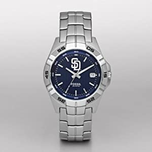 Fossil San Diego Padres Watch Mens Three Hand Date MLB1052 by Fossil