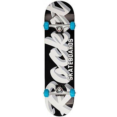 Rocket Pro Script Black/White 8.00 inch Skateboard completo