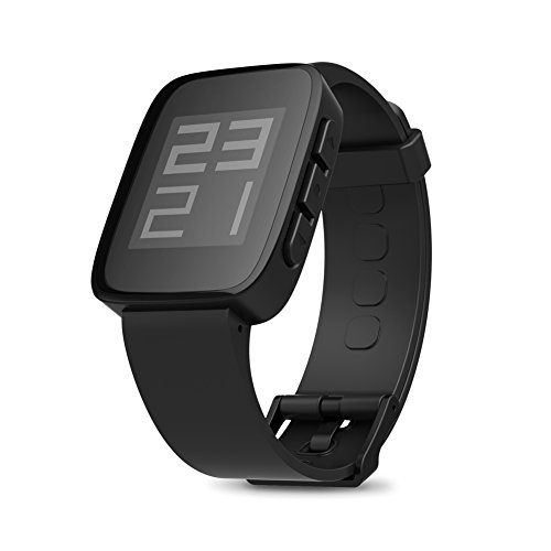 """Ipegtop® Weloop Tommy 1.26"""" LCD Smart Watch w/ Bluetooth 4.0 / Support Message Display (Black)"""