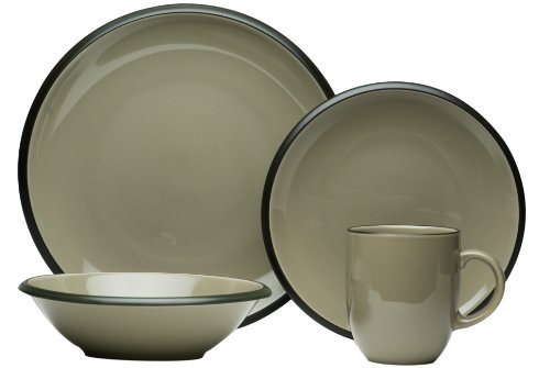 Red Vanilla Hampshire Grey 16-Piece Dinnerware Set (Red Vanilla Dishes compare prices)