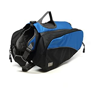 Kyjen 2490 Dog Backpack Dog Pack Removable Saddlebag Style, Large, Blue