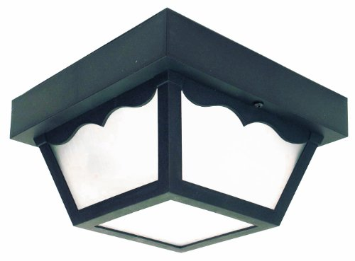 Thomas Lighting 190281030 Led Outdoor Ceiling Outdoor Ceiling Light, Black