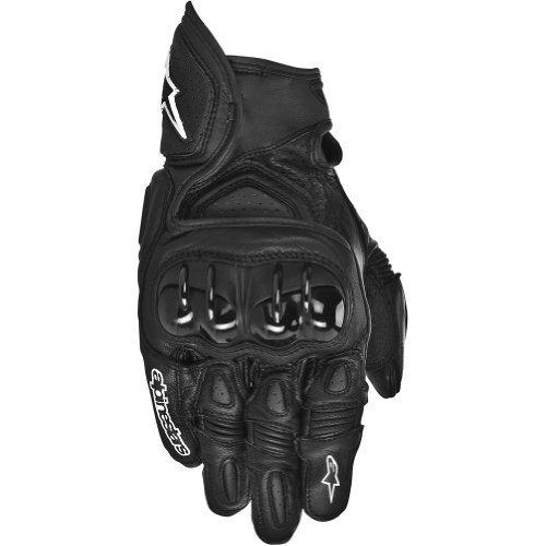Alpinestars GPX Men's Leather Street Bike Motorcycle Gloves - Black / X-Large