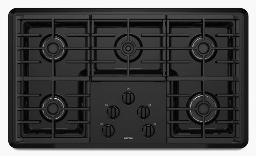 Maytag MGC7536WB 36 Gas Cooktop - Black