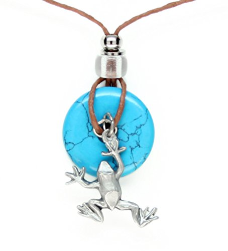 Earth Reflections Diamond Cut Pendant Necklace - Frog