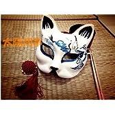 狐のお面■青■鶴■夏目友人帳■コスプレ■きつね■仮面■マスク■覆面
