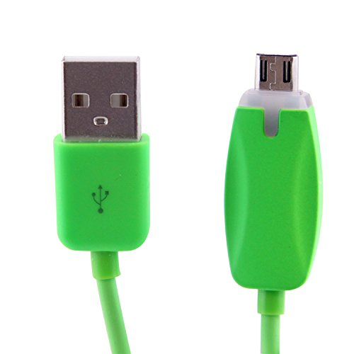 Lb1 High Performance New Micro Usb Cable For Alcatel Ot-980 Led Light Universal Charging And Data Sync Micro Usb Cable (Green)