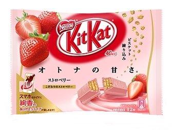 12 pieces of strawberry sweetness of Nestle Kit Kat mini-adults...