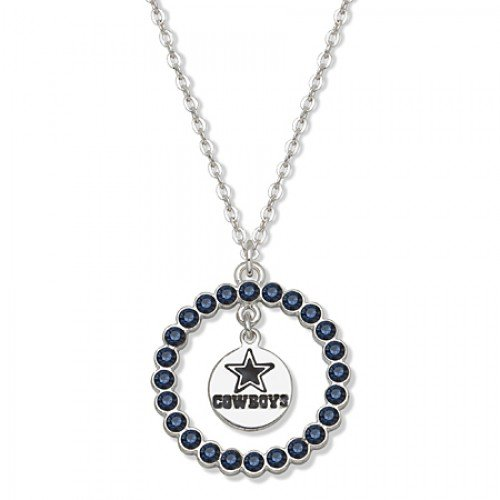 Nfl Dallas Cowboys Necklace W/ Blue Crystal Wreath at Amazon.com