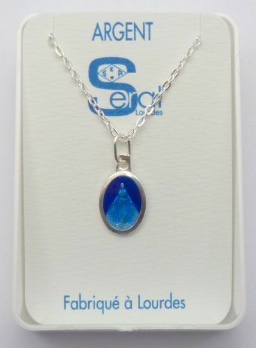 French Miraculous Medal Necklace - 925 Sterling Silver MADE IN LOURDES