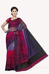 Bhagawati Women's Kota Doria Cotton Saree BS-007_Multicolor