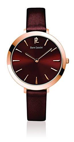 Pierre Lannier 004D944 - Orologio da polso donna, pelle, colore: marrone