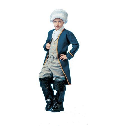 [PA6623 (Small 4-6) Child George Washington Costume] (Colonial/revolutionary War Costumes)