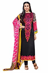 Lebaas Pakistani Style Digital Print Salwar Suit Dupatta Material (Un-stitched) - (With Discount and Sale Offer)
