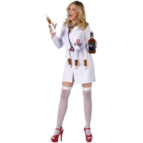 Sexy Dr. Shots Adult Costume - Small/Medium