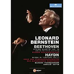 Leonard Bernstein Conducts Beethoven String Quartet No. 16 & Haydn Missa in Tempore Belli